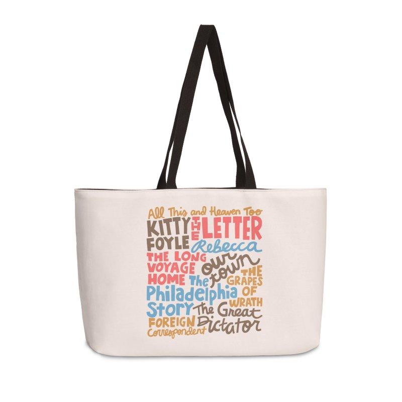 1940 Accessories Weekender Bag Bag by Kate Gabrielle's Artist Shop