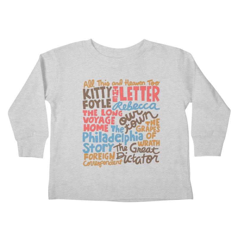 1940 Kids Toddler Longsleeve T-Shirt by Kate Gabrielle's Artist Shop
