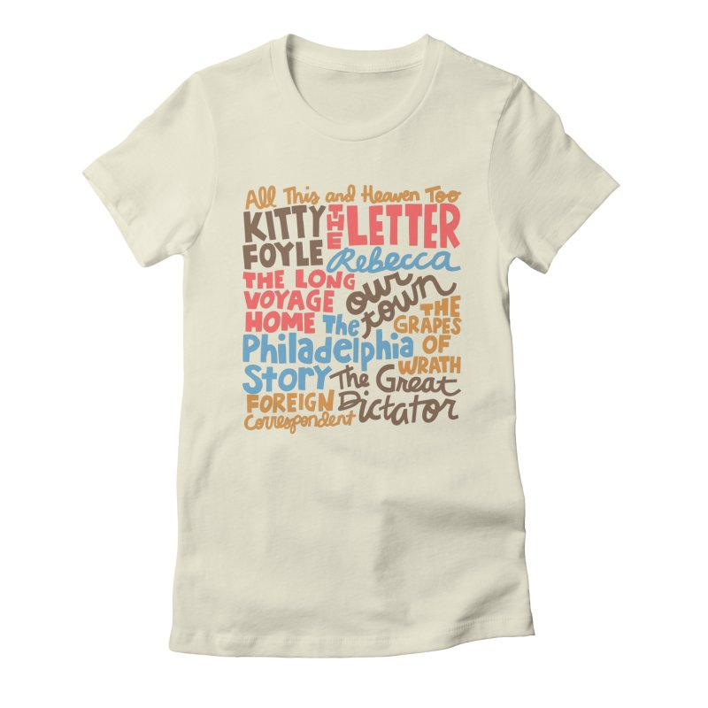 1940 Women's Fitted T-Shirt by Kate Gabrielle's Artist Shop