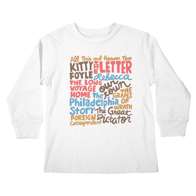 1940 Kids Longsleeve T-Shirt by Kate Gabrielle's Artist Shop