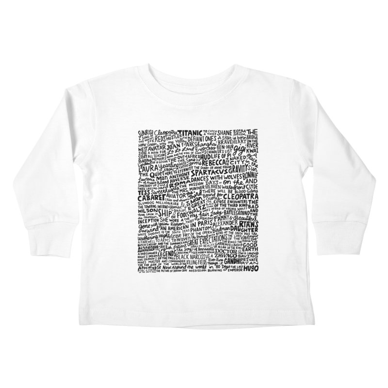 Best Cinematography (black and white) Kids Toddler Longsleeve T-Shirt by Kate Gabrielle's Artist Shop