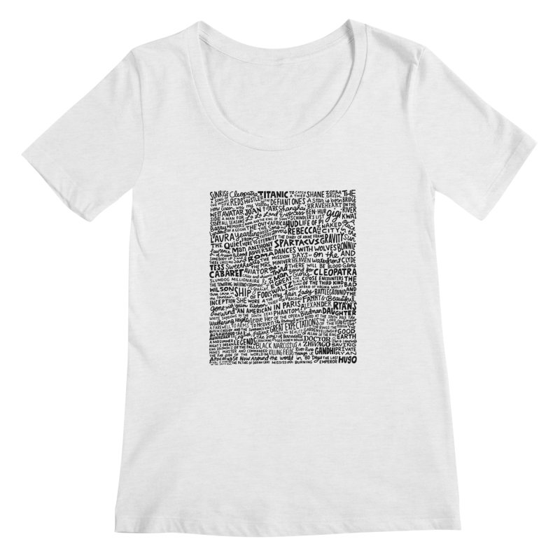 Best Cinematography (black and white) Women's Regular Scoop Neck by Kate Gabrielle's Artist Shop