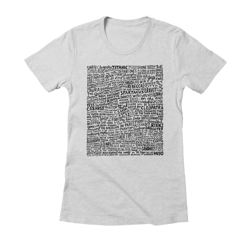 Best Cinematography (black and white) Women's Fitted T-Shirt by Kate Gabrielle's Artist Shop