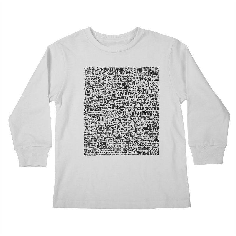 Best Cinematography (black and white) Kids Longsleeve T-Shirt by Kate Gabrielle's Artist Shop