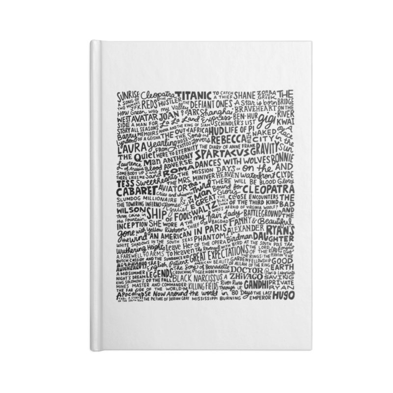 Best Cinematography (black and white) Accessories Lined Journal Notebook by Kate Gabrielle's Artist Shop