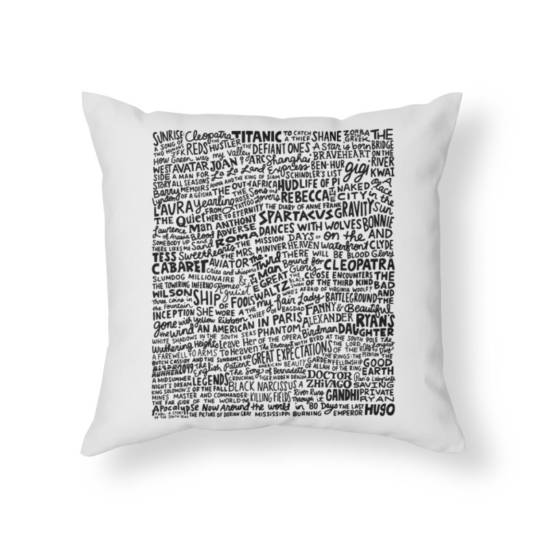 Best Cinematography (black and white) Home Throw Pillow by Kate Gabrielle's Artist Shop