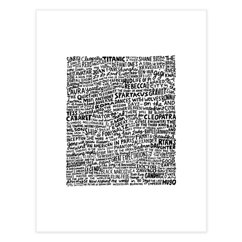 Best Cinematography (black and white) Home Fine Art Print by Kate Gabrielle's Artist Shop