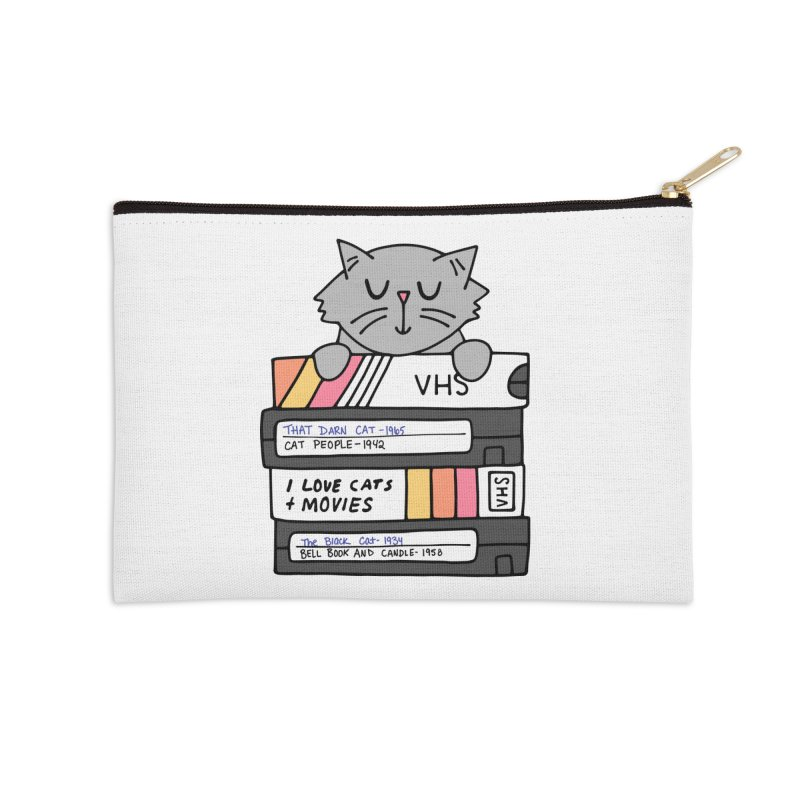 Cats and movies Accessories Zip Pouch by Kate Gabrielle's Artist Shop