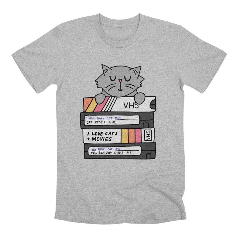 Cats and movies Men's Premium T-Shirt by Kate Gabrielle's Artist Shop