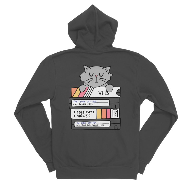 Cats and movies Women's Sponge Fleece Zip-Up Hoody by Kate Gabrielle's Artist Shop
