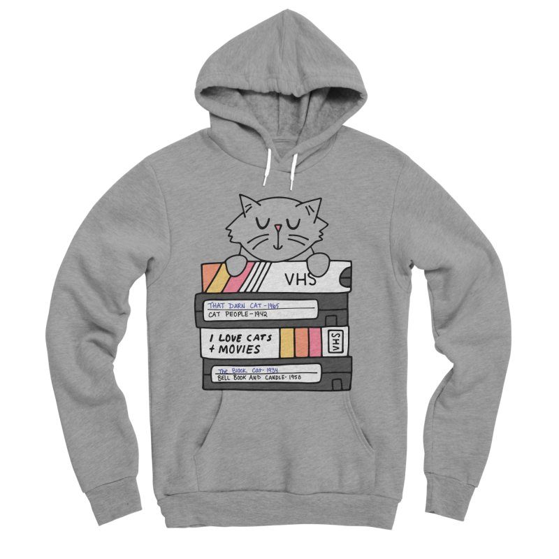 Cats and movies Men's Sponge Fleece Pullover Hoody by Kate Gabrielle's Artist Shop