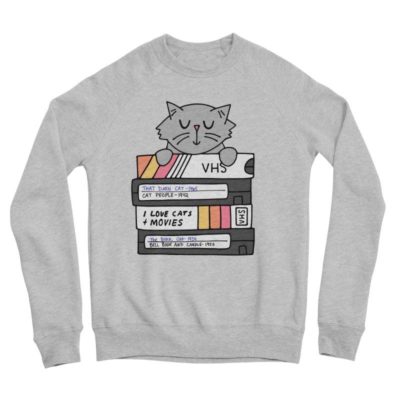 Cats and movies Men's Sponge Fleece Sweatshirt by Kate Gabrielle's Artist Shop