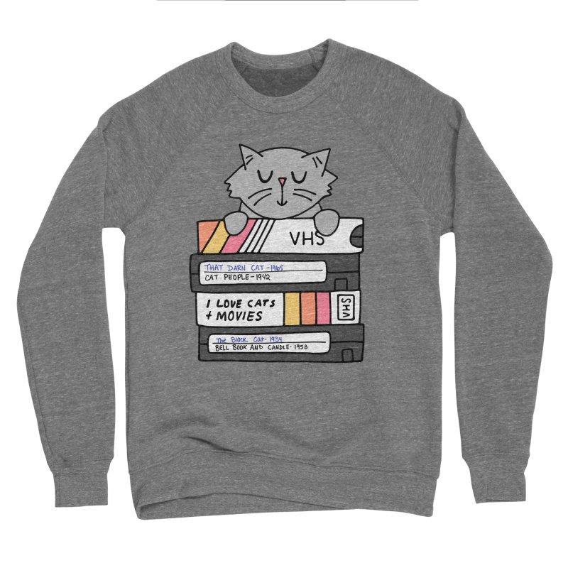 Cats and movies Women's Sponge Fleece Sweatshirt by Kate Gabrielle's Artist Shop