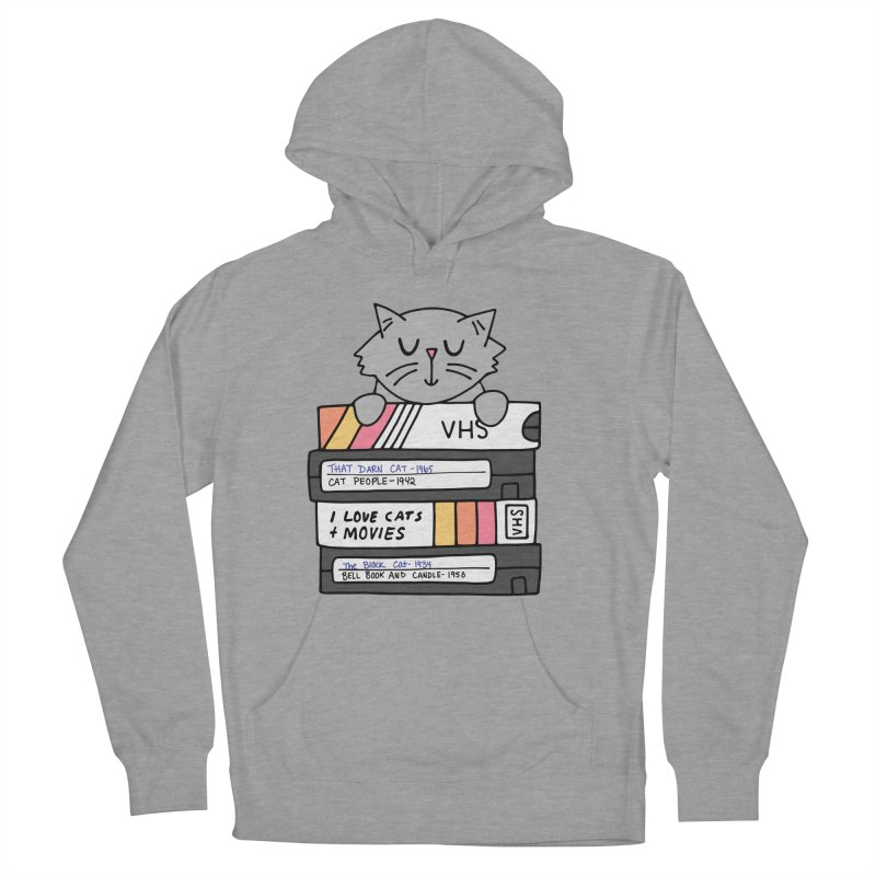 Cats and movies Women's French Terry Pullover Hoody by Kate Gabrielle's Artist Shop