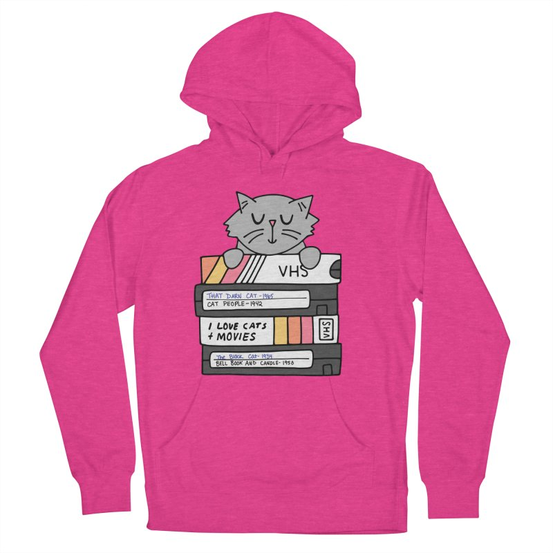 Cats and movies Men's French Terry Pullover Hoody by Kate Gabrielle's Artist Shop