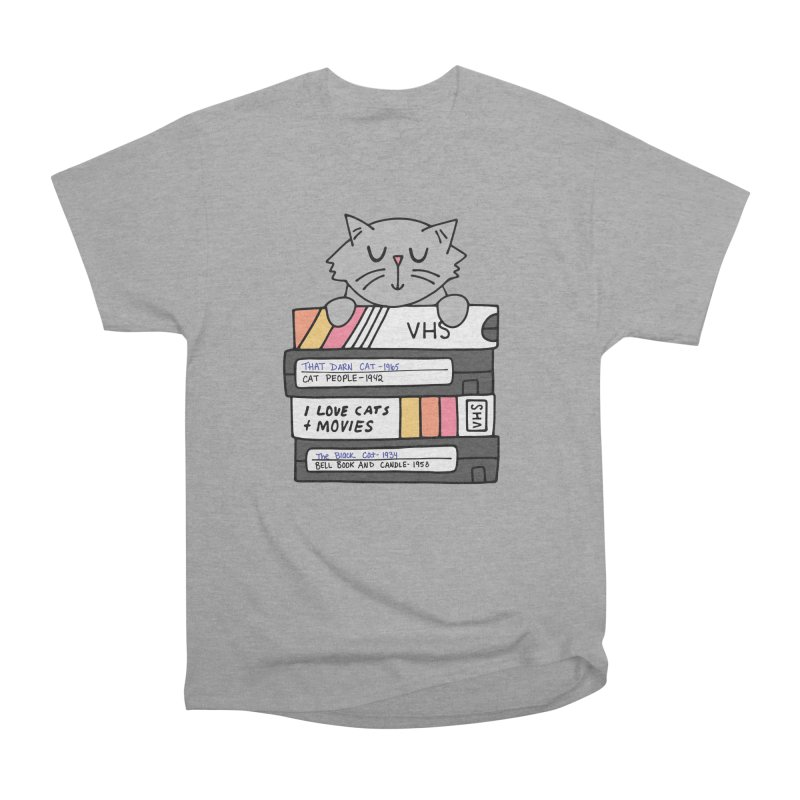 Cats and movies Men's Heavyweight T-Shirt by Kate Gabrielle's Artist Shop