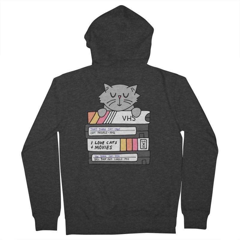 Cats and movies Women's French Terry Zip-Up Hoody by Kate Gabrielle's Artist Shop