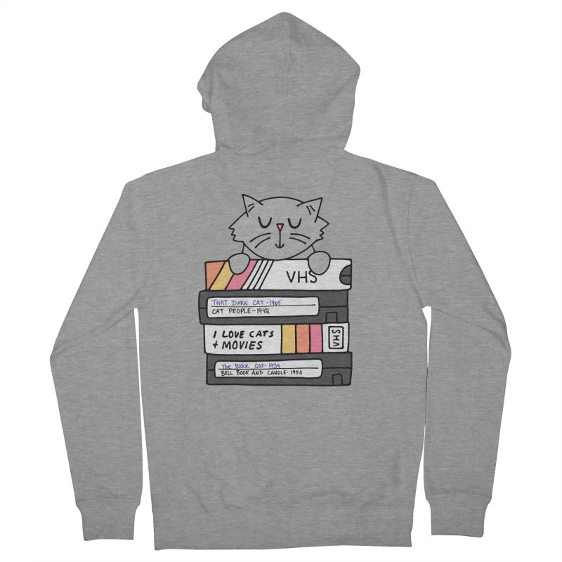 Cats and movies Men's French Terry Zip-Up Hoody by Kate Gabrielle's Artist Shop