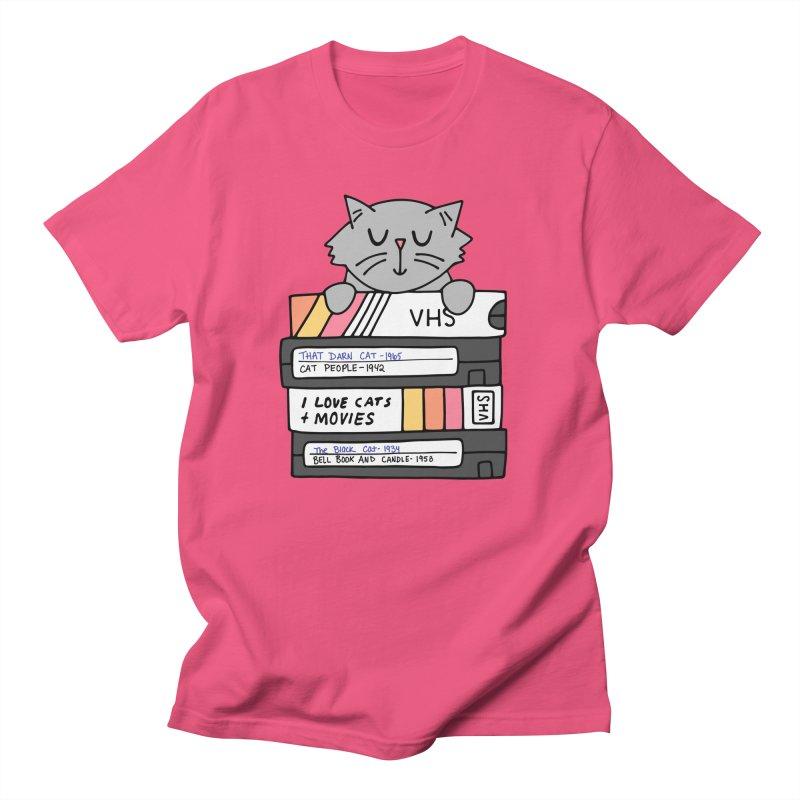Cats and movies Women's Regular Unisex T-Shirt by Kate Gabrielle's Artist Shop