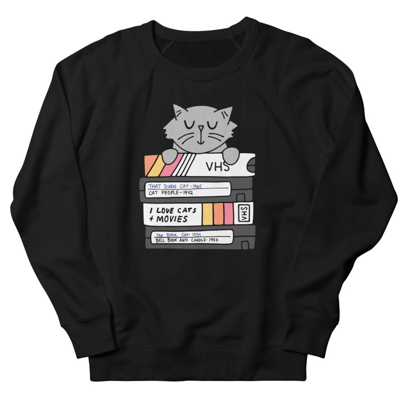 Cats and movies Women's French Terry Sweatshirt by Kate Gabrielle's Artist Shop