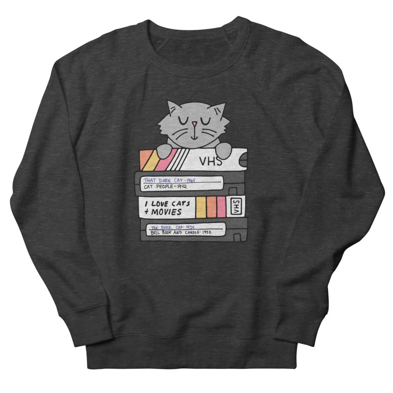 Cats and movies Men's French Terry Sweatshirt by Kate Gabrielle's Artist Shop