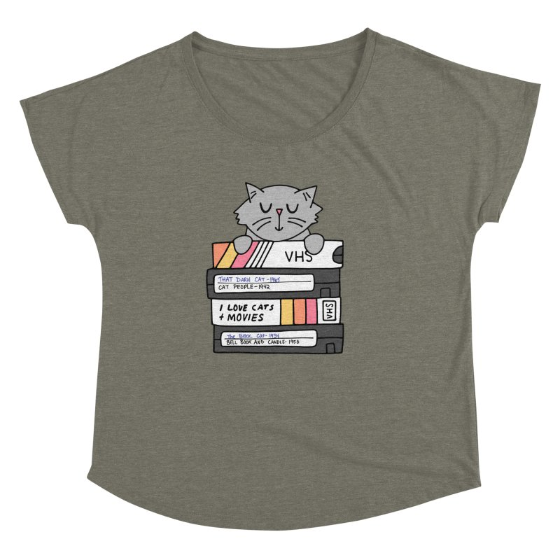 Cats and movies Women's Dolman Scoop Neck by Kate Gabrielle's Artist Shop