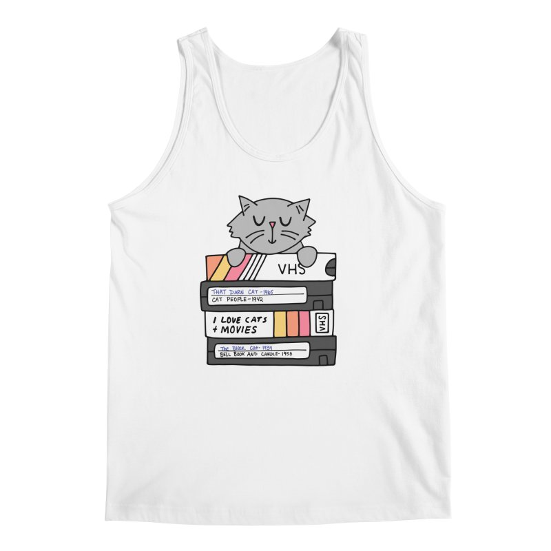 Cats and movies Men's Regular Tank by Kate Gabrielle's Artist Shop