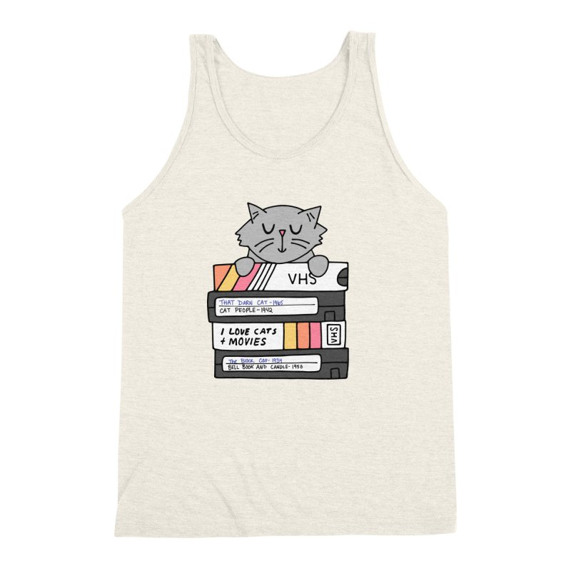 Cats and movies Men's Triblend Tank by Kate Gabrielle's Artist Shop