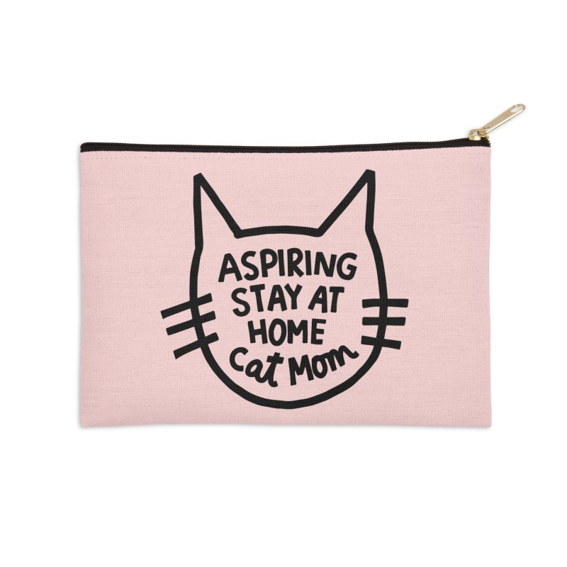Cat mom Accessories Zip Pouch by Kate Gabrielle's Artist Shop
