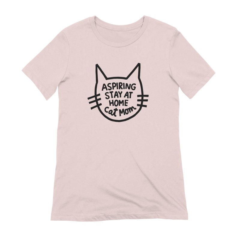 Cat mom Women's Extra Soft T-Shirt by Kate Gabrielle's Artist Shop