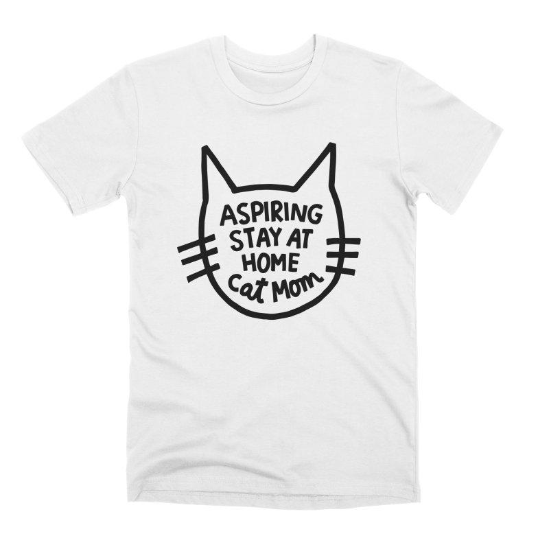 Cat mom Men's Premium T-Shirt by Kate Gabrielle's Artist Shop
