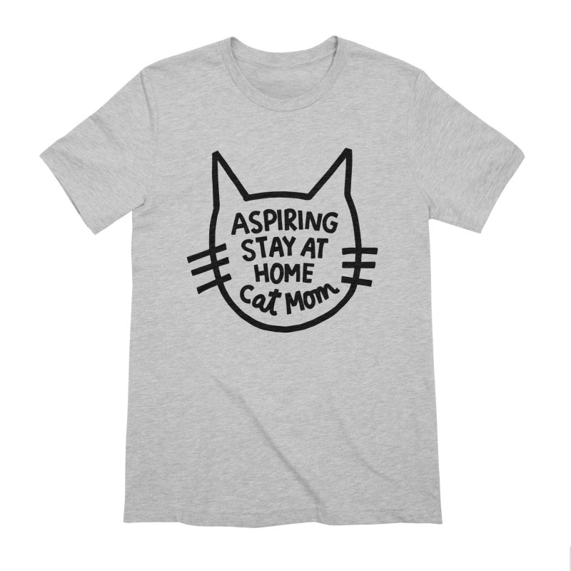 Cat mom Men's Extra Soft T-Shirt by Kate Gabrielle's Artist Shop