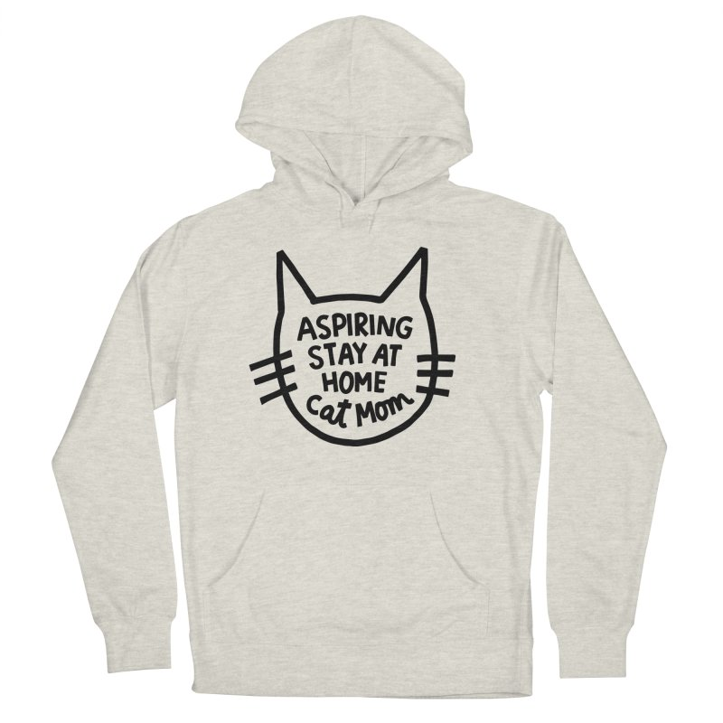 Cat mom Men's French Terry Pullover Hoody by Kate Gabrielle's Artist Shop