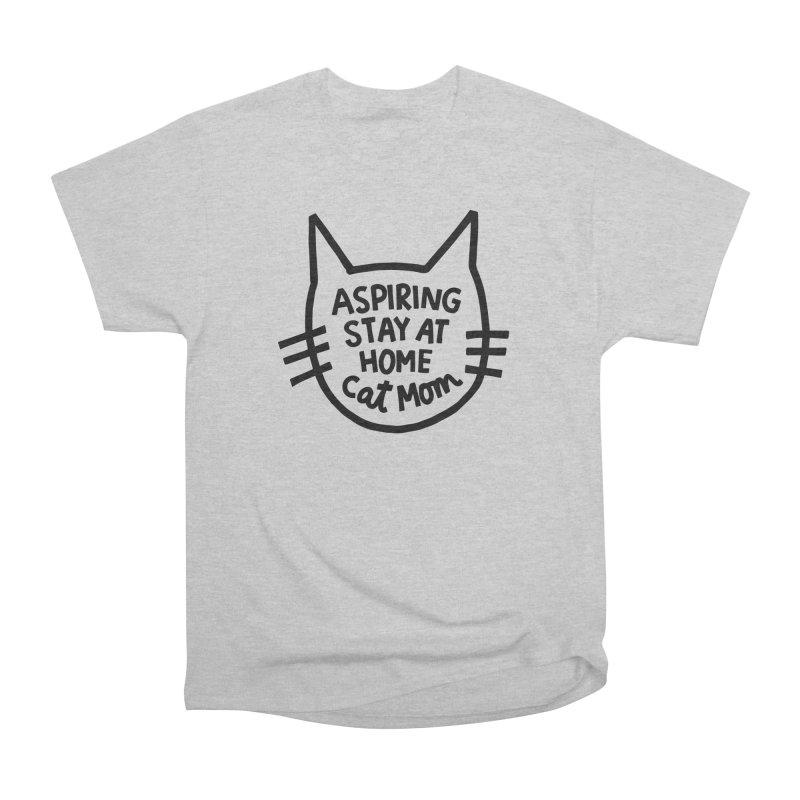 Cat mom Men's Heavyweight T-Shirt by Kate Gabrielle's Artist Shop