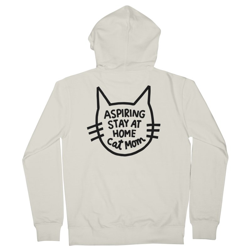 Cat mom Women's French Terry Zip-Up Hoody by Kate Gabrielle's Artist Shop