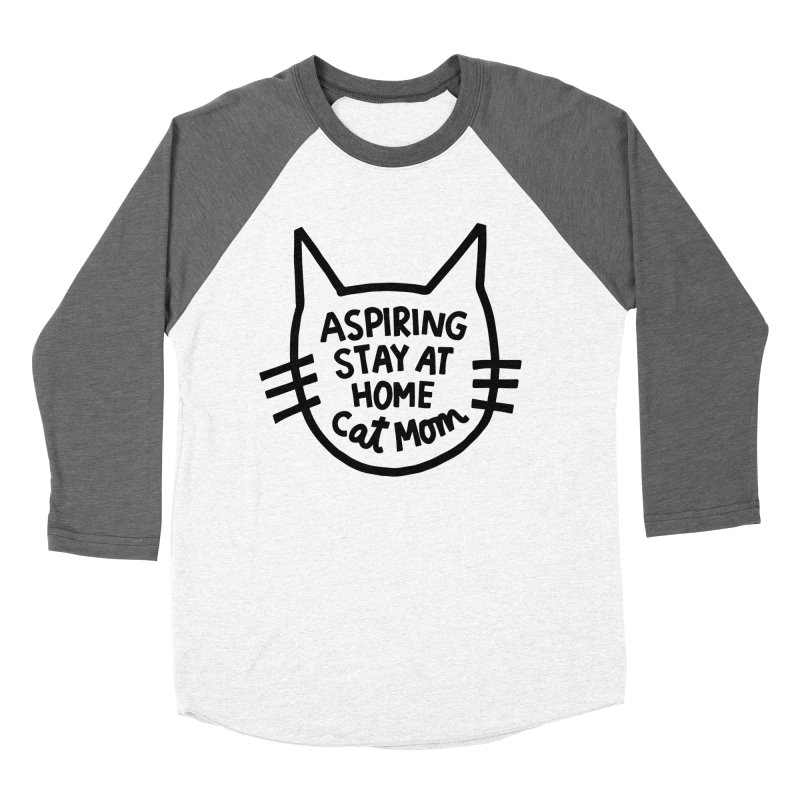 Cat mom Women's Baseball Triblend Longsleeve T-Shirt by Kate Gabrielle's Artist Shop