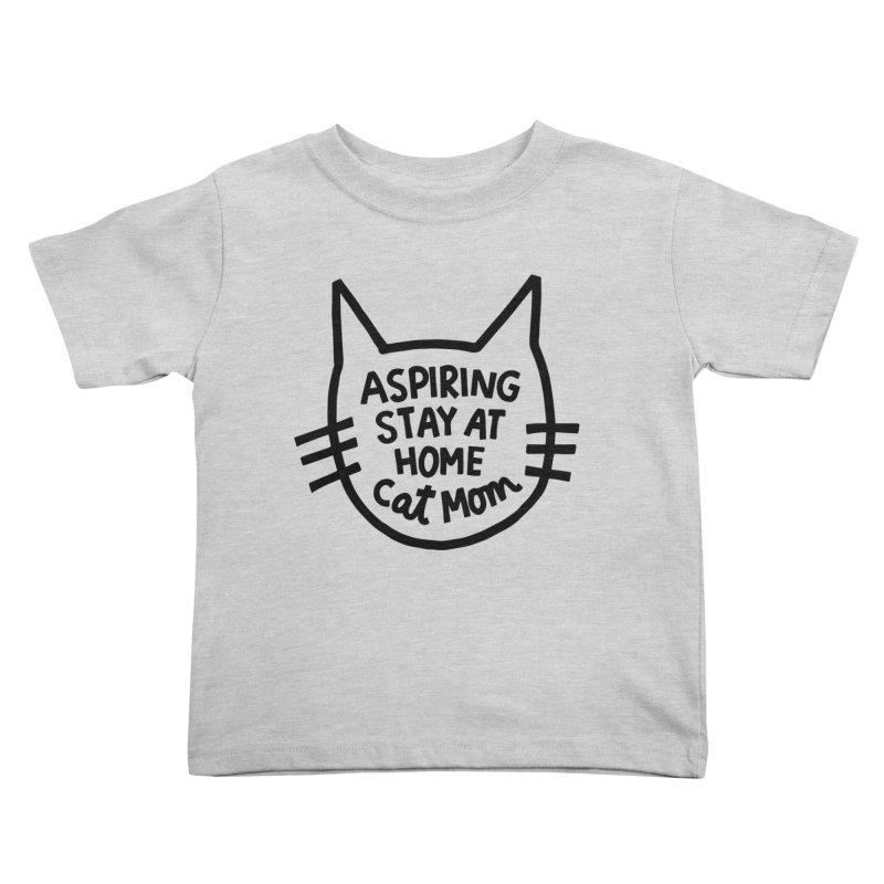 Cat mom Kids Toddler T-Shirt by Kate Gabrielle's Artist Shop