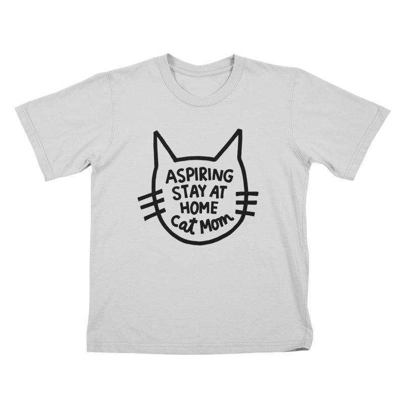 Cat mom Kids T-Shirt by Kate Gabrielle's Artist Shop