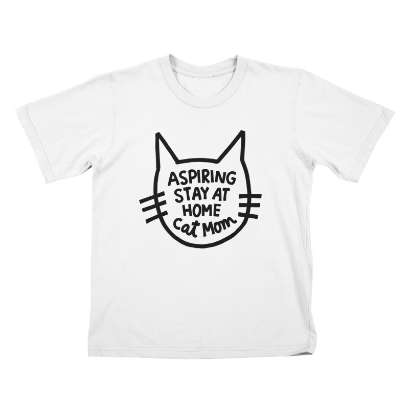 Cat mom Kids T-Shirt by Kate Gabrielle's Artist Shop