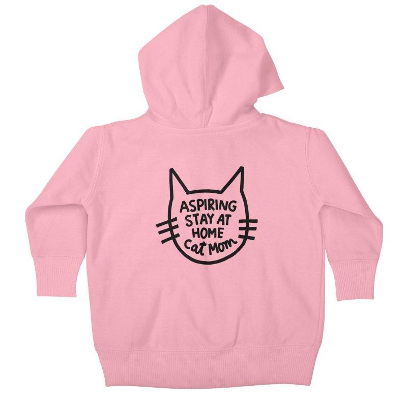 Cat mom Kids Baby Zip-Up Hoody by Kate Gabrielle's Artist Shop