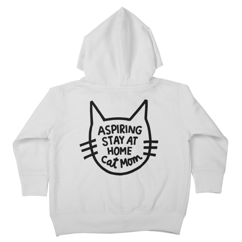 Cat mom Kids Toddler Zip-Up Hoody by Kate Gabrielle's Artist Shop