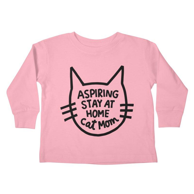 Cat mom Kids Toddler Longsleeve T-Shirt by Kate Gabrielle's Artist Shop