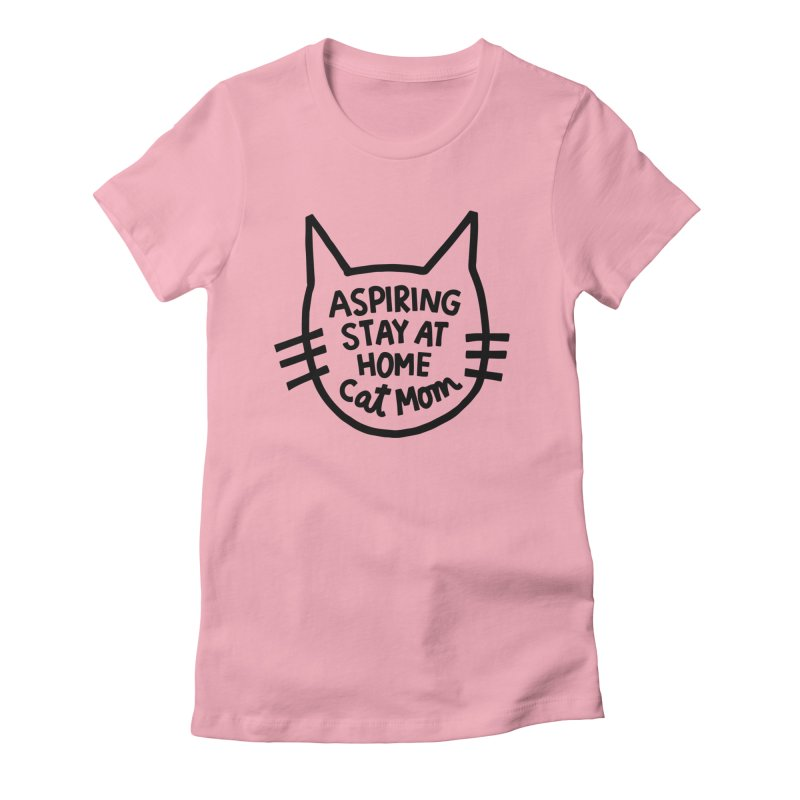 Cat mom Women's Fitted T-Shirt by Kate Gabrielle's Artist Shop