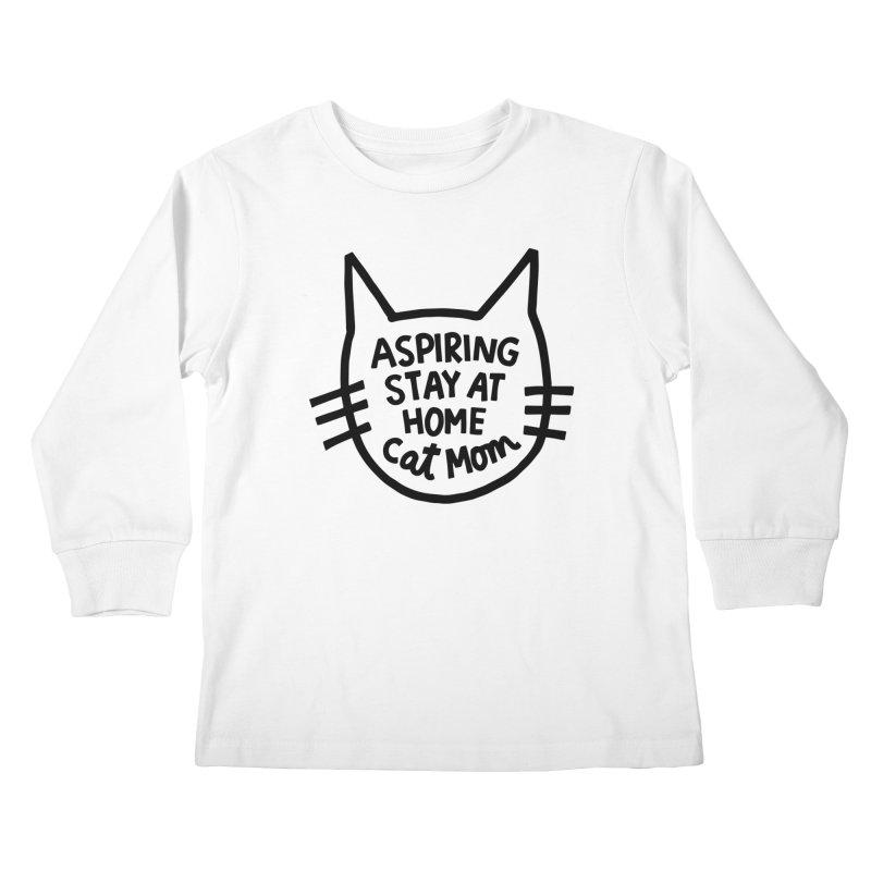 Cat mom Kids Longsleeve T-Shirt by Kate Gabrielle's Artist Shop