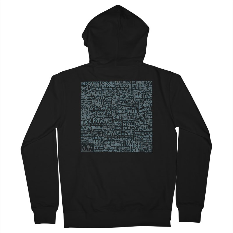 TCMFF 2019 (variant) Men's French Terry Zip-Up Hoody by Kate Gabrielle's Artist Shop