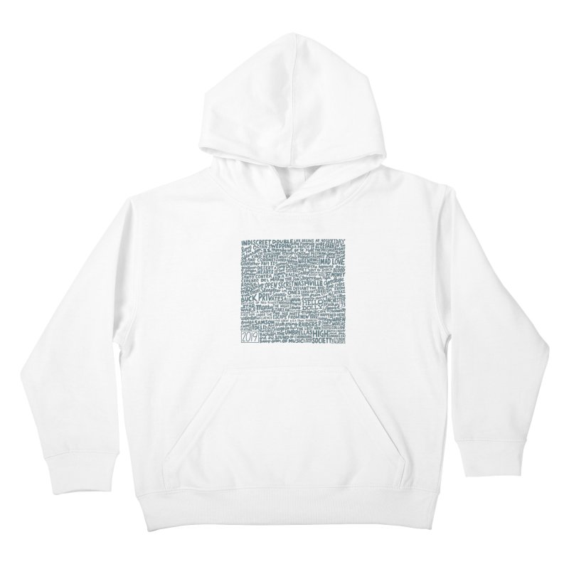 TCMFF 2019 (variant) Kids Pullover Hoody by Kate Gabrielle's Artist Shop