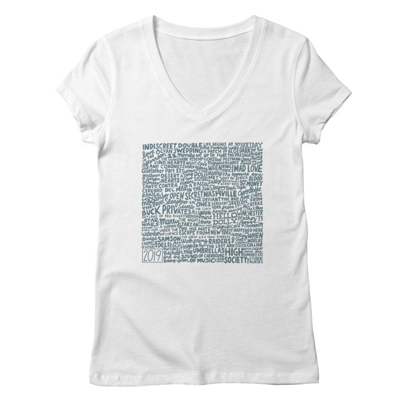 TCMFF 2019 (variant) Women's Regular V-Neck by Kate Gabrielle's Artist Shop
