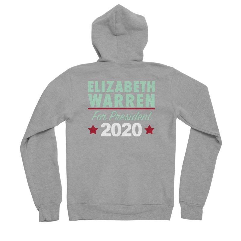Elizabeth Warren for President Men's Sponge Fleece Zip-Up Hoody by Kate Gabrielle's Artist Shop