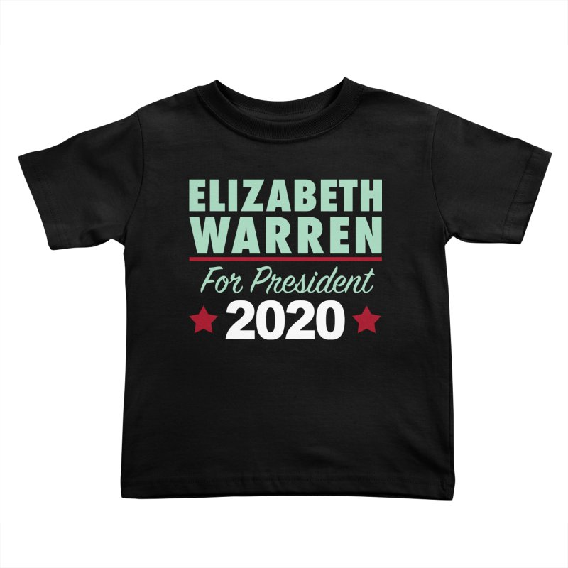 Elizabeth Warren for President Kids Toddler T-Shirt by Kate Gabrielle's Artist Shop