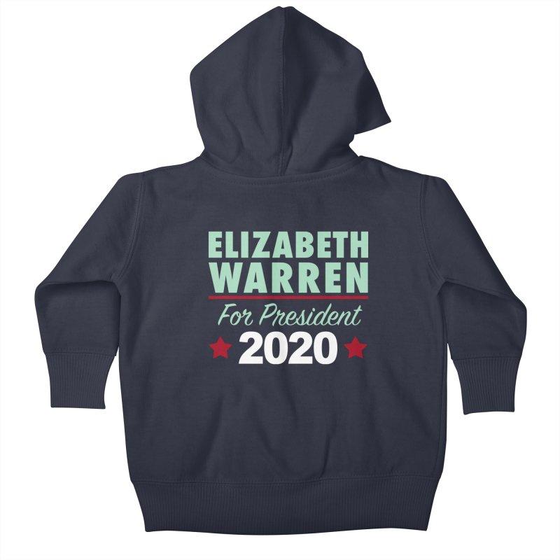 Elizabeth Warren for President Kids Baby Zip-Up Hoody by Kate Gabrielle's Artist Shop